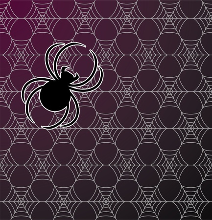 Spiderweb Seamless Background Pattern Stock Vector - 9929766