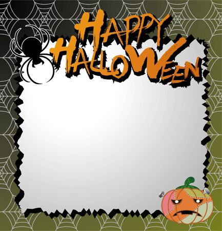 vector halloween card  letter paper