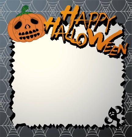vector halloween card / letter paper Vectores