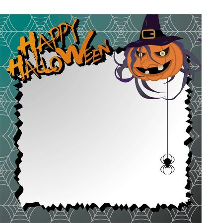 vector halloween card  letter paper Vector