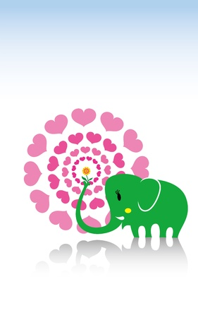 africa kiss: elephant love letter