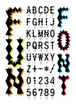 shrill: fun decoration font