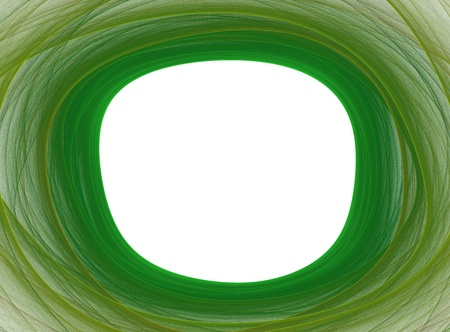 Abstract green frame in white photo