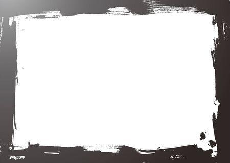 grunge style border in white background Vector