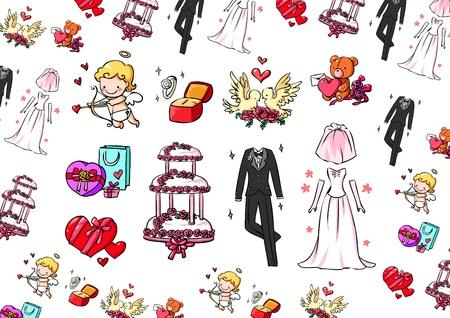 Wedding collection Stock Vector - 14016336