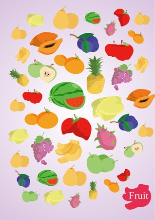 vector coloful fruits Vector