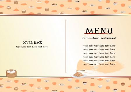 Chinese food menu Illustration