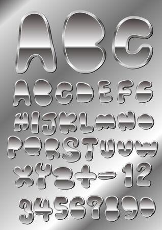metal cutely handwriting font Stock Vector - 14228012