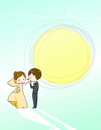 lovely wedding invitation Vector
