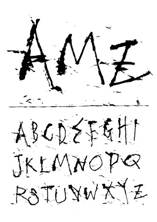 hand writing ink font