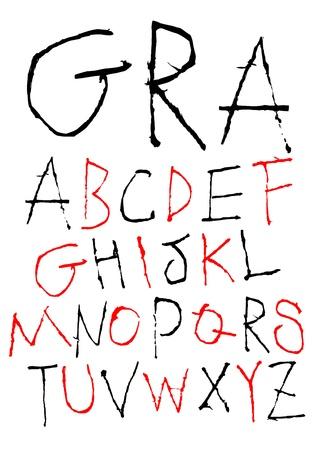 hand writing childish font Vector