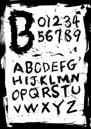 grunge style font