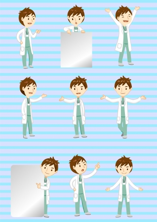 doctor display Vector