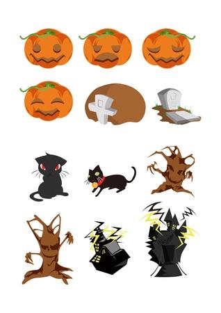 halloween icons Vectores