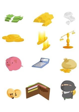 winning stock: finance icons Illustration