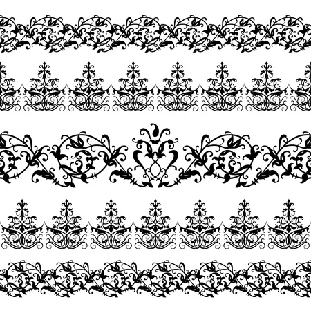 old fashioned: Floral Pattern Illustration