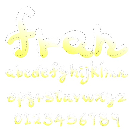 hand write: hand write Dotted line font Lower case Illustration