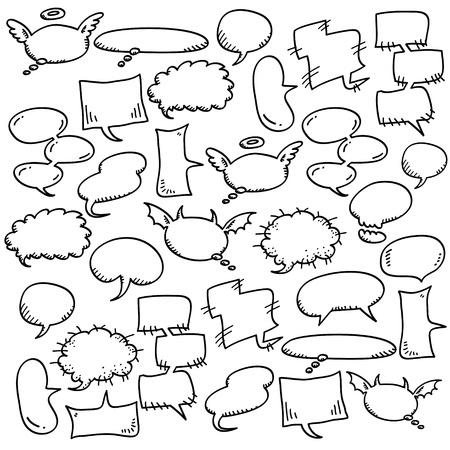 hand draw speech bubbles