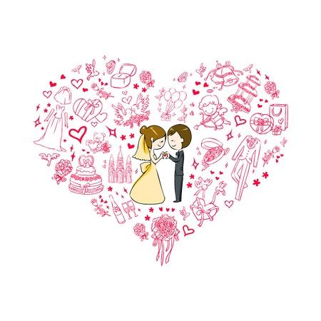 wedding invitation Stock Vector - 14989435
