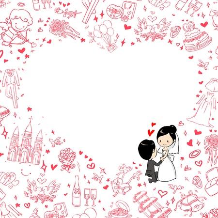 wedding invitation 矢量图像