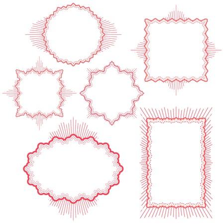 vector vintage frames Illustration
