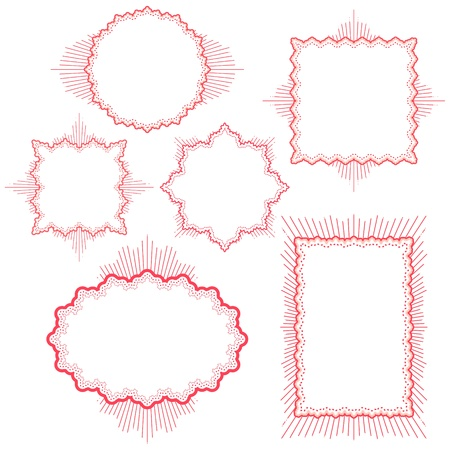 editable sign: vector vintage frames Illustration