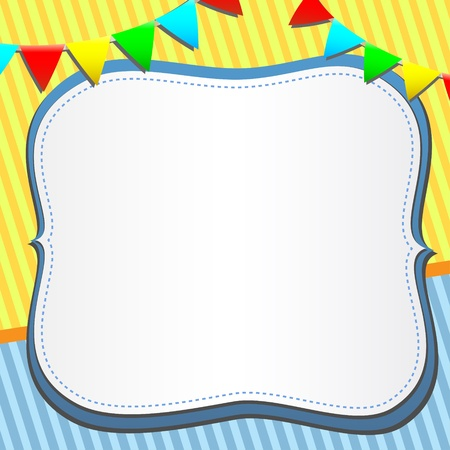 vector greeting card with frame