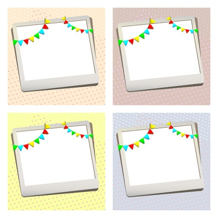 greeting card with photo frame Vector