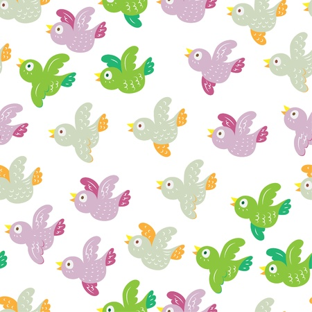 seamless wallpaper with birds Stock Vector - 15481465