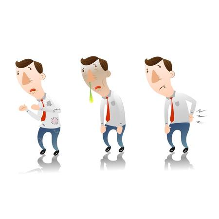 empresario triste: Hombre con sentirse mal Vectores