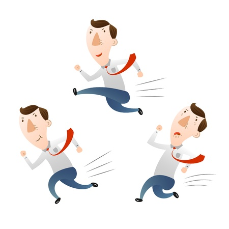 man with run and jump Illustration