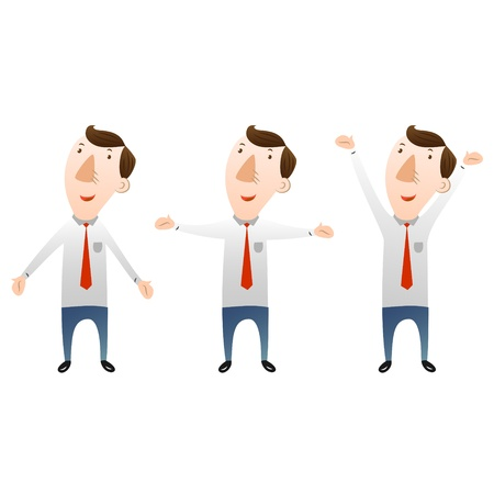man with open arms Illustration