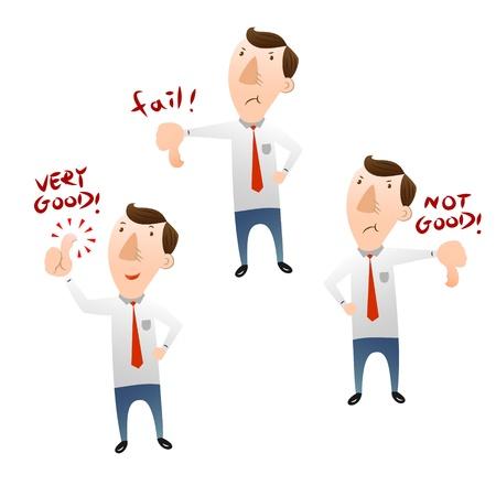 businessman with thumb Illustration