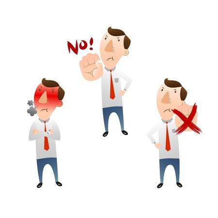 empresario triste: hombre de negocios enojado con y entredicho