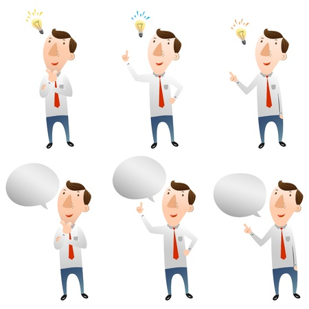 businessman with idea and speech bubble Vector