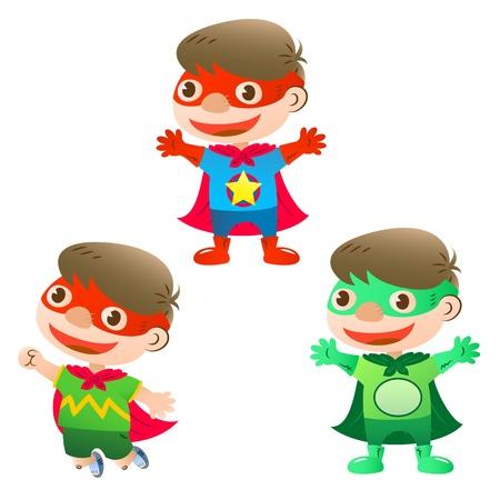 cute heroes boy Vectores