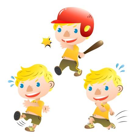 kids football: cute blond boy sporting