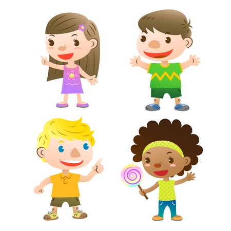 schattige kinderen