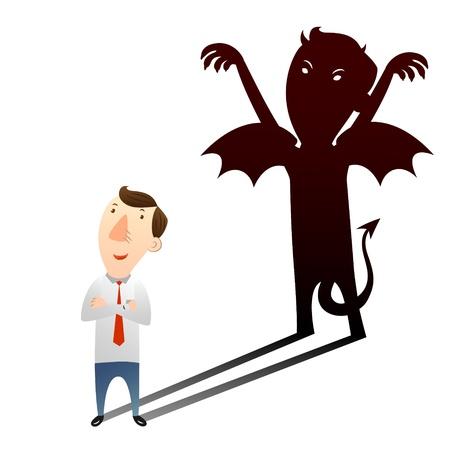 empresario triste: El concepto de sigilo asesino con el var�n joven