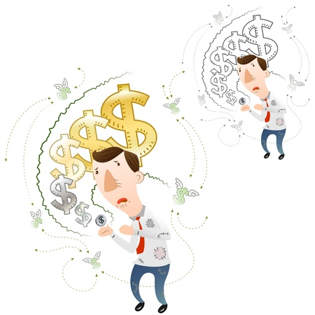 The concept of devaluation Stock Vector - 16988959
