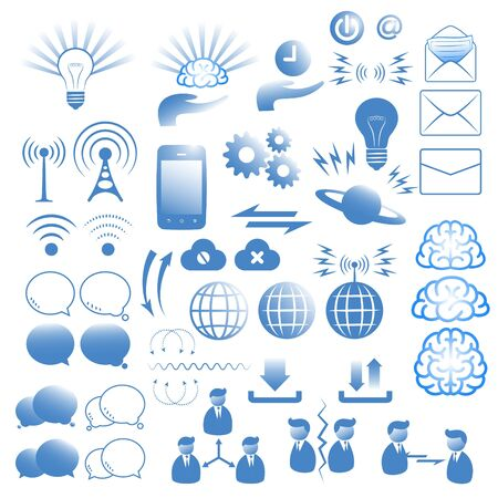 communication icons set Stock Vector - 17421146