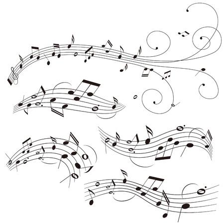 Illustration of stave on white background Illustration