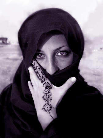 Portrait of an Egyptian Girl in Egypt