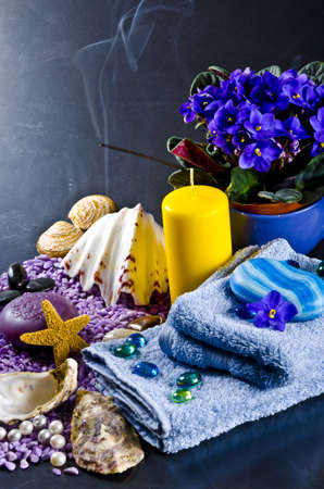 a different soaps sorten with mussels photo