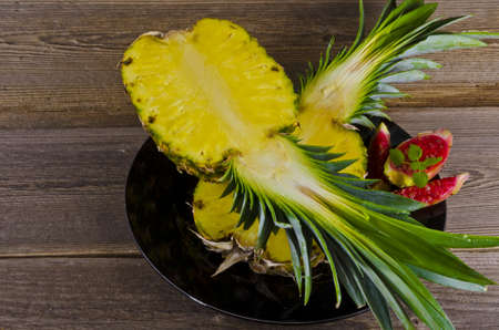 Exotic Salad With Pineapple Figs  photo