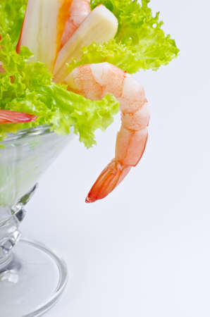 Shrimp are swimming, decapod crustaceans classified in the infraorder Caridea, found widely around the world in both fresh and salt water. photo