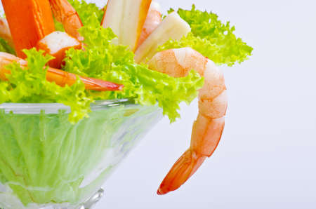 Shrimp are swimming, decapod crustaceans classified in the infraorder Caridea, found widely around the world in both fresh and salt water. Stock Photo - 10576804
