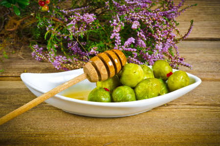 Brussels sprouts with honey photo