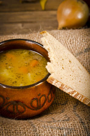 Pea soup (Polish Grochowka) photo