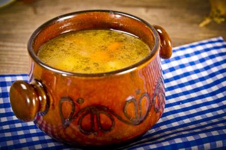 potage: Pea soup (Polish Grochowka)